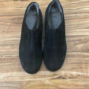 Mephisto Leather Suede Black Slip on Sneaker